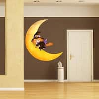 """Girl Moon Full Color Wall Decal Sticker AN-424 FRST Size52""""x52"""""""
