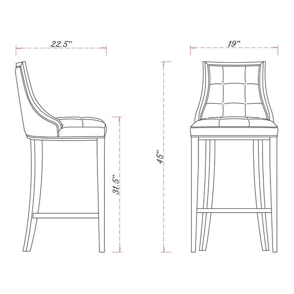 Amazing Shop Fifth Avenue Bar Stool N A Free Shipping Today Pabps2019 Chair Design Images Pabps2019Com