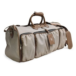 Adrienne Vittadini 22 Inch Rugged Two Tone Collection Duffel-Natural
