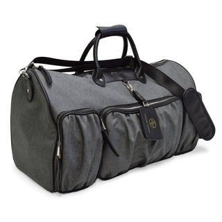 Adrienne Vittadini 22 Inch Rugged Two Tone Collection Duffel-Black