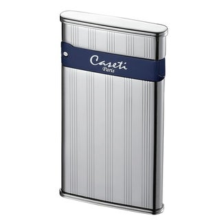 Caseti Flaco Ultra-thin Jet Flame Cigar Lighter - Chrome Vertical Lines