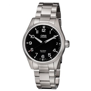 Oris Men's 01 751 7697 4164-07 8 20 19 'Big Crown Date' Black Dial Stainless Steel Swiss Automatic Watch