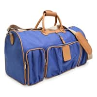 Adrienne Vittadini 22 Inch Rugged Two Tone Collection Duffel-Denim
