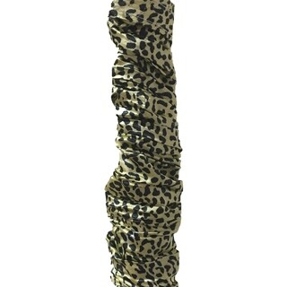 Royal Designs Black/Gold Colored Leopard Animal Print Cord & Chain Cover- 4 feet- Use for Chandelier Lighting Wires