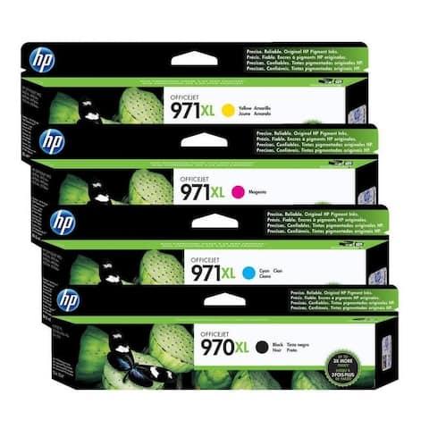 HP 970XL /971XL Original High Yield Black/Cyan/Yellow/Magenta Ink Cartridges,CN625AM,CN626AM,CN627AM,CN628AM - 4 Set