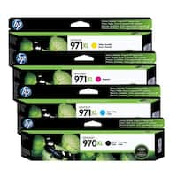 HP 970XL /971XL Original High Yield Black/Cyan/Yellow/Magenta Ink Cartridges,CN625AM,CN626AM,CN627AM,CN628AM - 4 Set