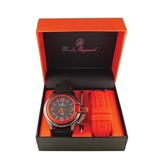 Fashion Sporty Orange Black gold Oversized Screen Design Replaceable Band Watch