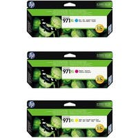 HP 971XL Original High Yield Cyan/Yellow/Magenta Ink Cartridges - 3 Set
