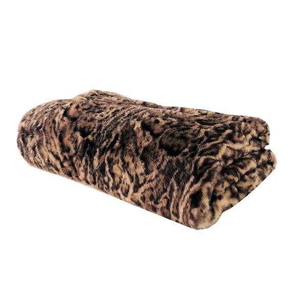 Plutus Jungle Cat Faux Fur Luxury Blanket