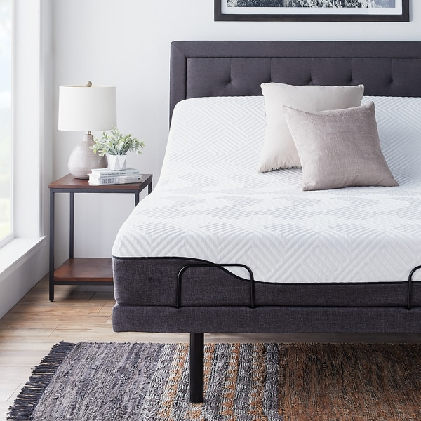 shop lucid comfort collection 10 inch queen size memory foam hybrid mattress with l300. Black Bedroom Furniture Sets. Home Design Ideas