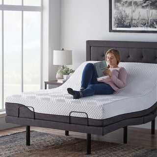 10 inch Hybrid Mattress and L300 Adjustable Bed Set by LUCID Comfort Collection (Full)