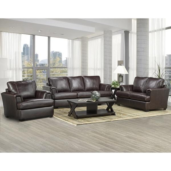 Leather Sofa Sets For Sale: Shop Duke Italian Leather Sofa, Loveseat, And Chair Set