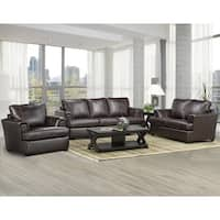 Duke Italian Leather Sofa, Loveseat, and Chair Set