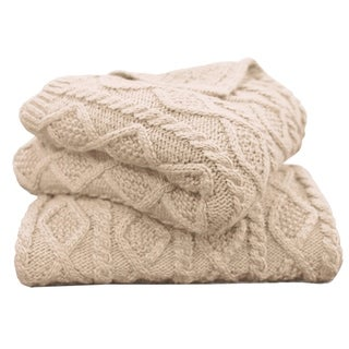 Cable Knit Throw, 50X60 Cream