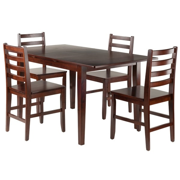Anna 5-PC Dining Table Set w/ Ladder Back Chairs