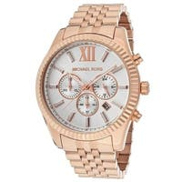 8dbc7cd9a11b Michael Kors Men s MK8313  Lexington  Chronograph Rose-Tone Stainless Steel  Watch. Sale