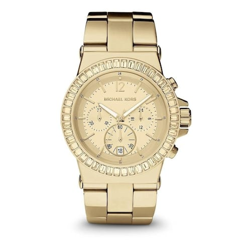 02cddfca80cb Michael Kors Women s MK5861  Dylan  Chronograph Crystal Gold-Tone Stainless  Steel Watch