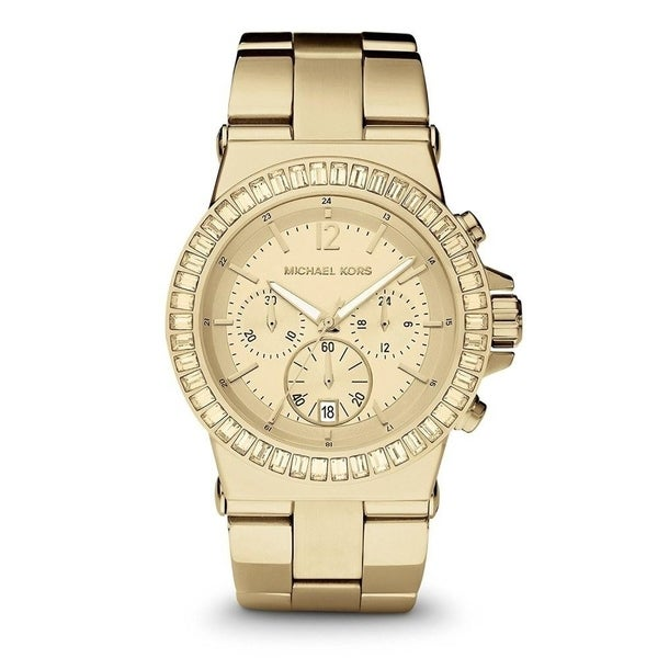 Michael Kors Women's MK5861 'Dylan' Chronograph Crystal Gold-Tone Stainless Steel Watch