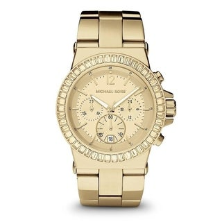 Michael Kors Women's 'Dylan' Chronograph Crystal Gold-Tone Stainless Steel Watch