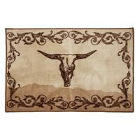 HiEnd Accents Scroll with Skull Rug , 24x36 - 24 x 36