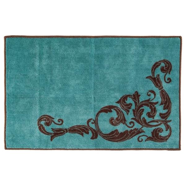 HiEnd Accents Wyatt Rug, 24x36 Turquoise