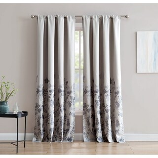 Isabelle Jacquard 84-inch Window Curtain with Rod Pocket- Single Panel, Inspired Surroundings by 1888 Mills