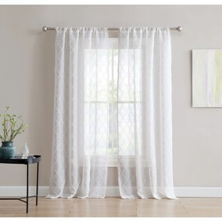 Sophie 84-inch Window Sheer with Rod Pocket - Single Panel, Inspired Surroundings by 1888 Mills