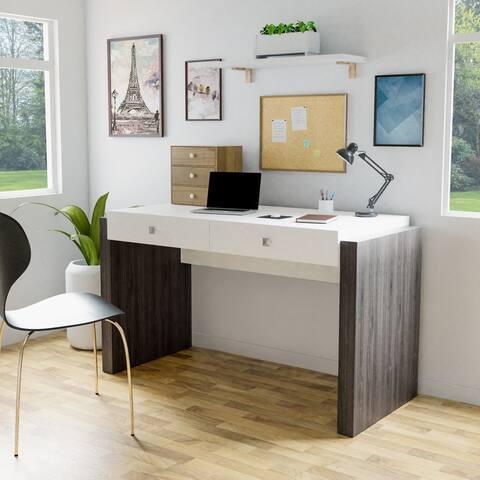 Furniture of America Zilo Two-Tone White 51-inch Office Desk