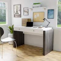 Furniture of America Zilo Modern Contemporary Glossy White 2-drawer Home Office Desk