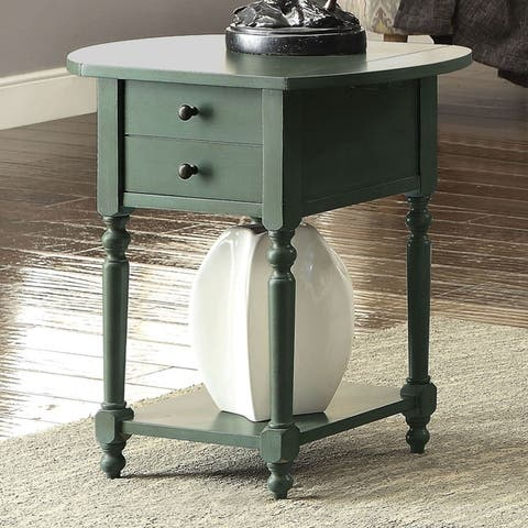 Furniture of America Kist Country Solid Wood 1-drawer Side Table