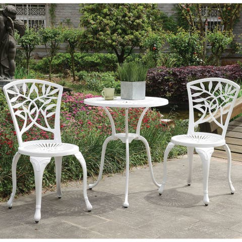 Furniture of America Linz Transitional 3-piece Outdoor Bistro Set