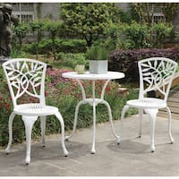 Furniture of America Amberley Leaves Outdoor Bistro Table Set