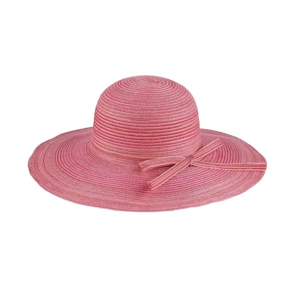 c1b944ddb4b Shop Mia - 100% Paper Straw Wide Brim Sun Hat Sun Styles - AH-001-13-PK -  Free Shipping On Orders Over  45 - Overstock.com - 20743069