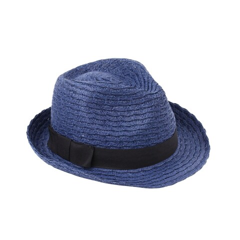 Yuri - 100% Paper Straw Trilby Fedora Style Sun Hat Sun Styles - AH-022-4-NV