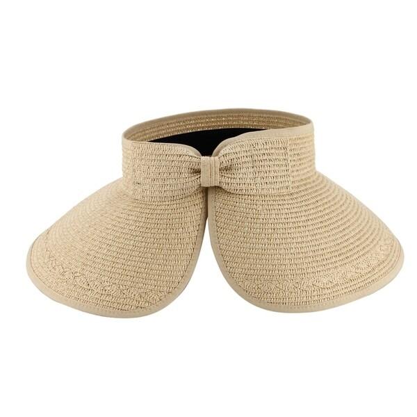 b2f2795b64d Shop Paulina - 100% Paper Straw Sun Visor Style Sun Hat Sun Styles - AH-064-1-BE  - Free Shipping On Orders Over  45 - Overstock - 20743242