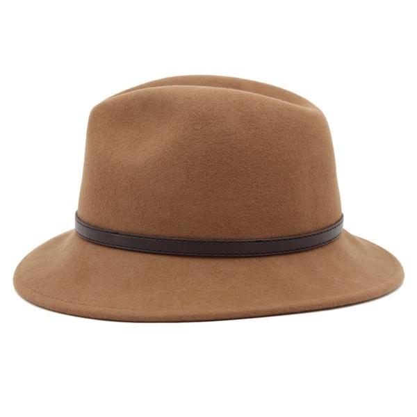 61654b57eee Shop Bonnie - 100% Wool Felt Fedora Style Felt Hat ALpas - YY-040-BK ...