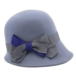 Jazzy - 100% Wool Felt Cloche Style Felt Hat Alpas - YY-045-BLGY
