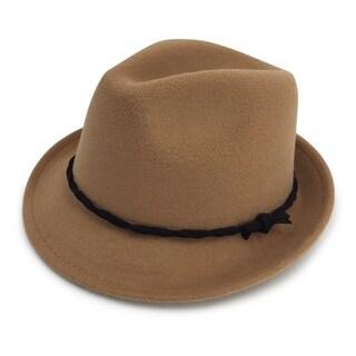 Isabella - 65% Cotton 35% Polyester Fabric Blend Trilby Fedora Style Felt-like Hat Alpas - FY-017-CML