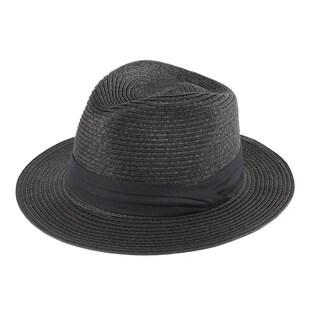 FB - 100% Paper Straw Classic Flat Brim Fedora Hat