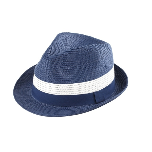 5cc2e60e585 Shop Frankie - 100% Paper Straw Trilby Fedora Style Hat - Ships To ...