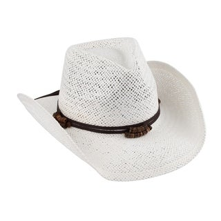 Reese - 100% Paper Straw Cowboy Drifter Style Hat