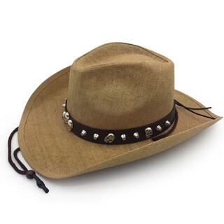 Bones - 100% Paper Straw Cowboy Drifter Style Hat