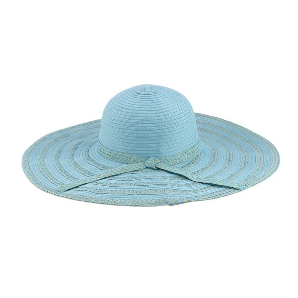 ab0d2953b2 Shop Selma - 20% Nylon 80% Cotton Woven Fabric Extra Large Wide Brim Sun Hat  Sun Styles - AH-017-3-BL - Free Shipping On Orders Over  45 - Overstock.com  - ...