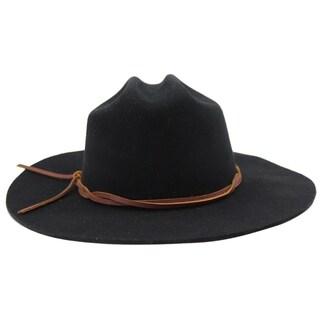Conner - 100% Wool Felt Western Influenced Cattleman Crown Style Felt Hat