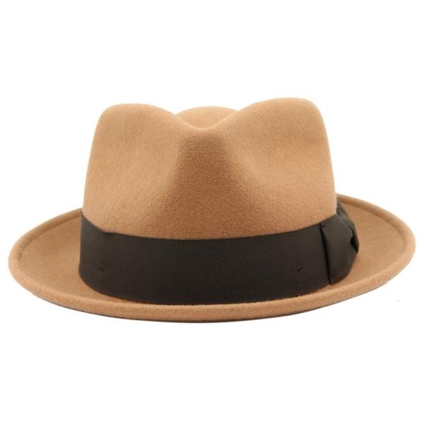 e8ccc6acf40 Shop Bugsy - 100% Wool Felt Trilby Fedora Style Hat - Free Shipping ...
