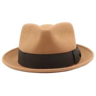 Bugsy - 100% Wool Felt Trilby Fedora Style Hat