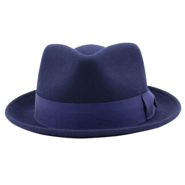 c44587da6e5fa Shop Bugsy - 100% Wool Felt Trilby Fedora Style Hat - Free Shipping ...
