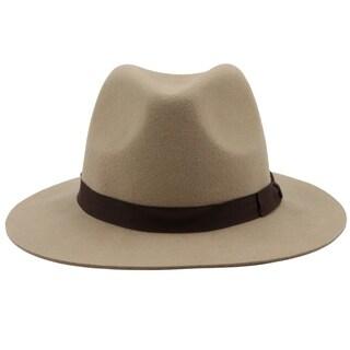 Capone - 100% Wool Felt Modern-day Soft Brim Fedora Style Hat