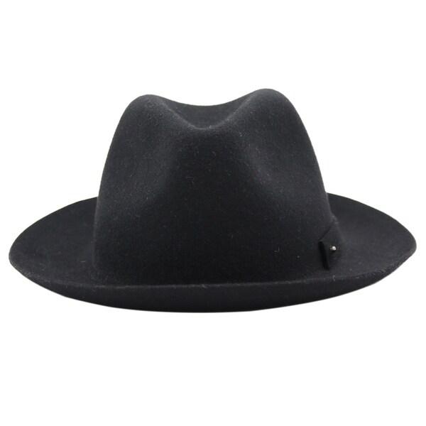 daf526e529f44 Shop Carmine - 100% Wool Felt Modern-day Soft Brim Fedora Stle Felt Hat -  Free Shipping On Orders Over  45 - Overstock - 20743494