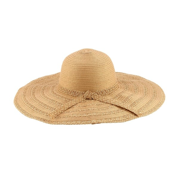 Shop Selma - 20% Nylon 80% Cotton Woven Fabric Extra Large Wide Brim Sun  Hat Sun Styles - AH-017-7-LBR - Free Shipping On Orders Over  45 -  Overstock - ... 920fc86f815